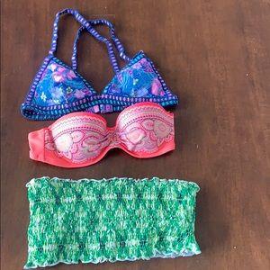 Bundle of Victoria Secret and Venus bikini tops!